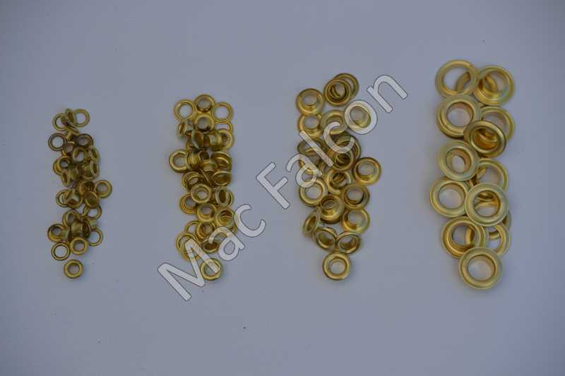 Zeilringen 5, 6.5, 8 en 11 mm in de kleur messing